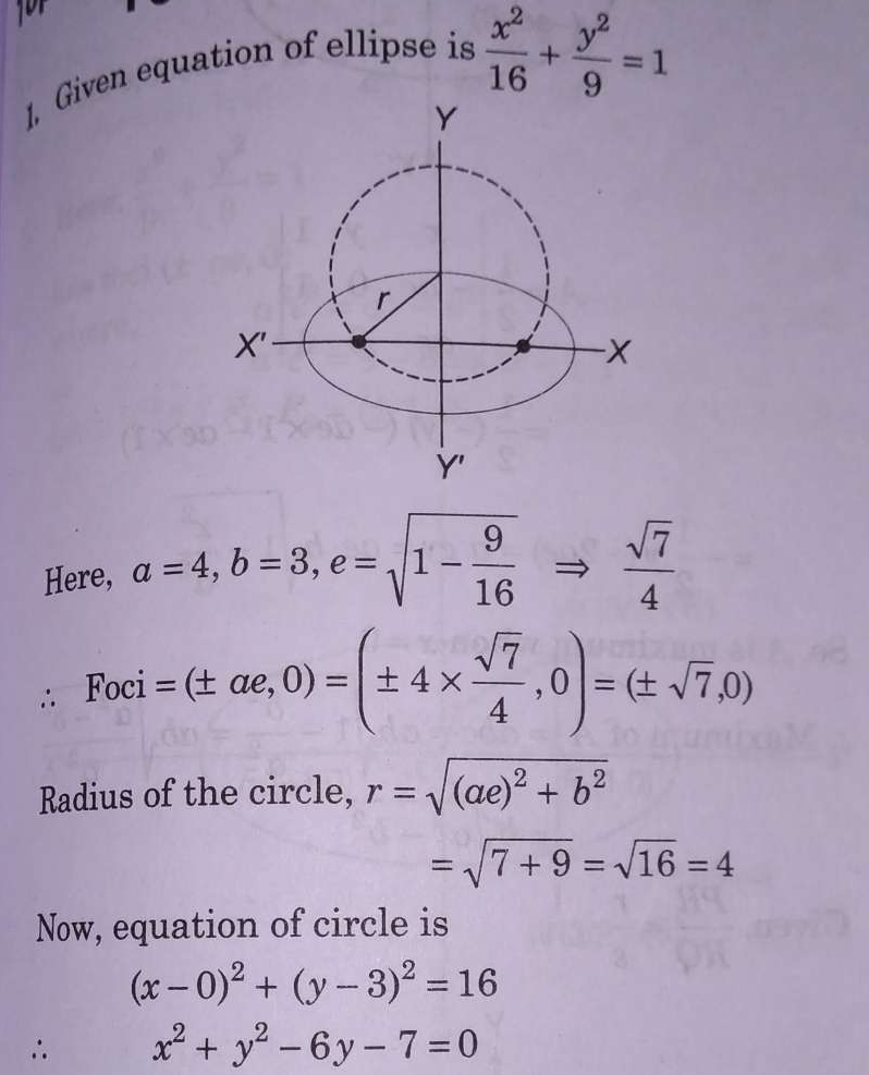 Let P be the point on the parabola, y^2=8x, which is at a minimum distance from the centre C of the circle, x^2+(y+6)^2=1. Then, the equation of the circle, passing through C and having its centre at P is