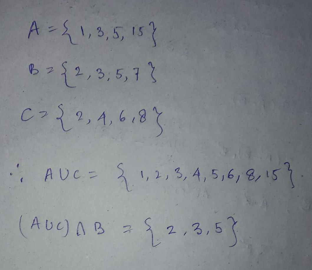 If A is the set of the divisors of the number 15, B is the set of prime numbers smaller than 10 and C is the set of even numbers smaller than 9, then (A⋃C)⋂B is the set