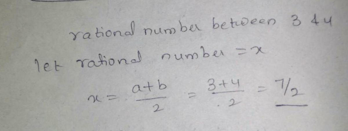 Find one rational number between 3 and 4