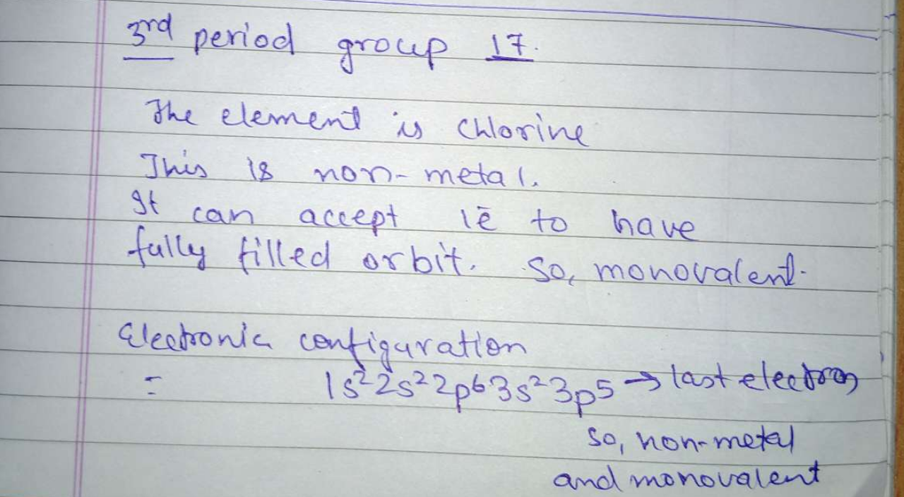 Is it a metal are non-metal?<br/> What is the mat number of valley electrons in its atom?