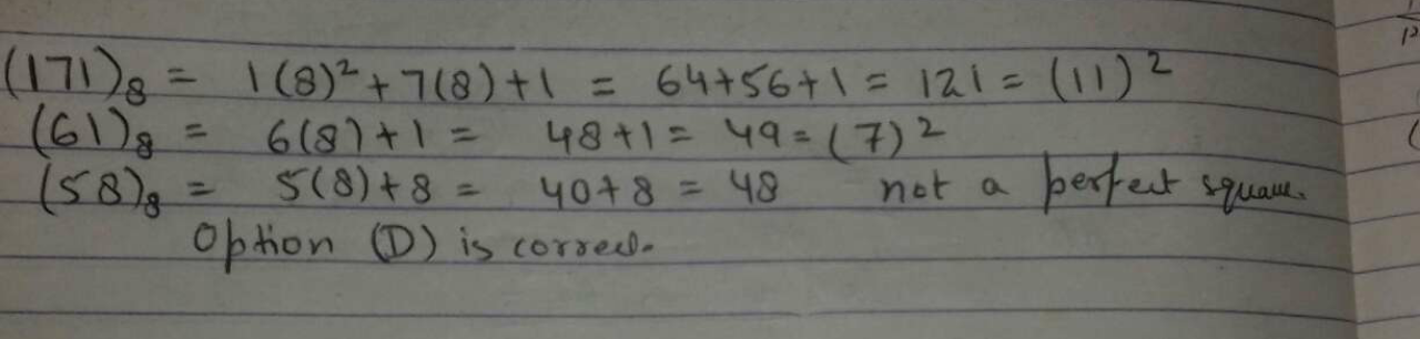 Which of the following is od a perfect square?