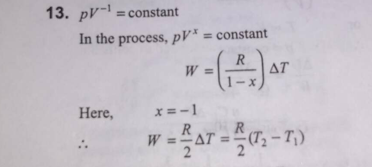 ling to the law = constant 13. One mole of an ideal gas at ...